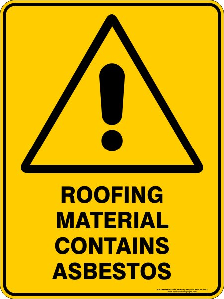 Roofing Material Contains Asbestos Discount Safety Signs