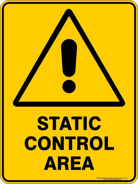 Warning Signs STATIC CONTROL AREA