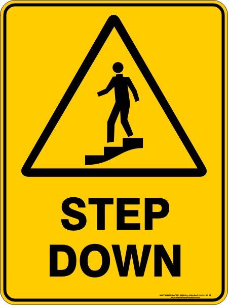 Warning Signs STEP DOWN