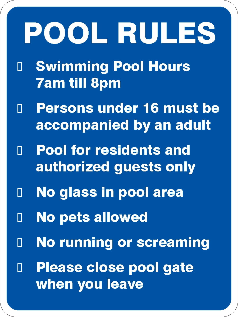 POOL RULES v2 | Discount Safety Signs Australia