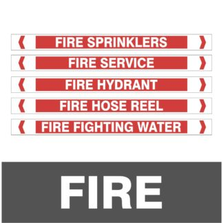 Fire Pipe Markers