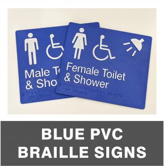 Blue PVC Braille Signs