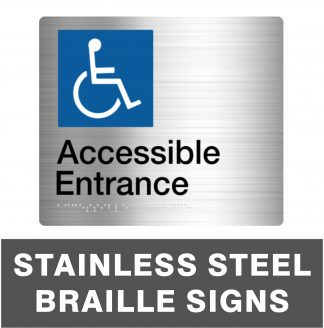 Stainless Steel Braille Signs