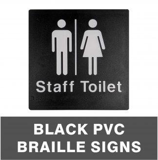 Black PVC Braille Signs